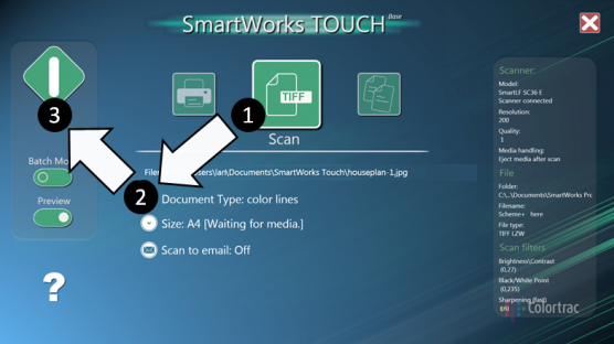 SmartWorks touch software